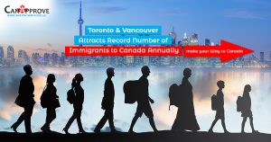 Toronto and Vancouver attracts record number of immigrants to Canada annually