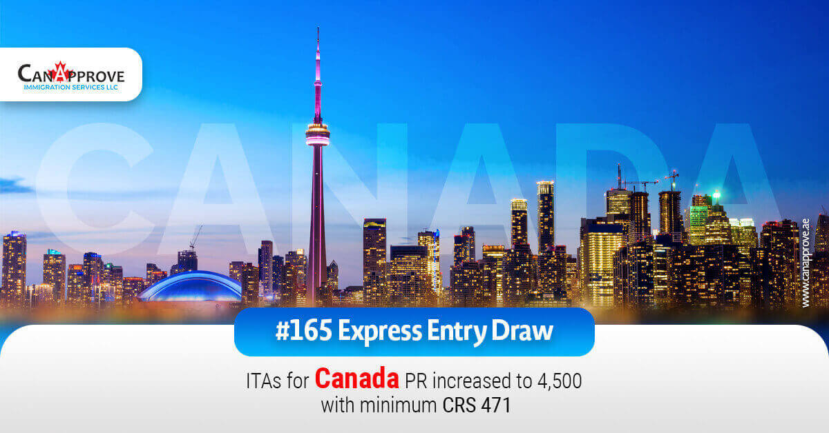 165 canada express entry draw