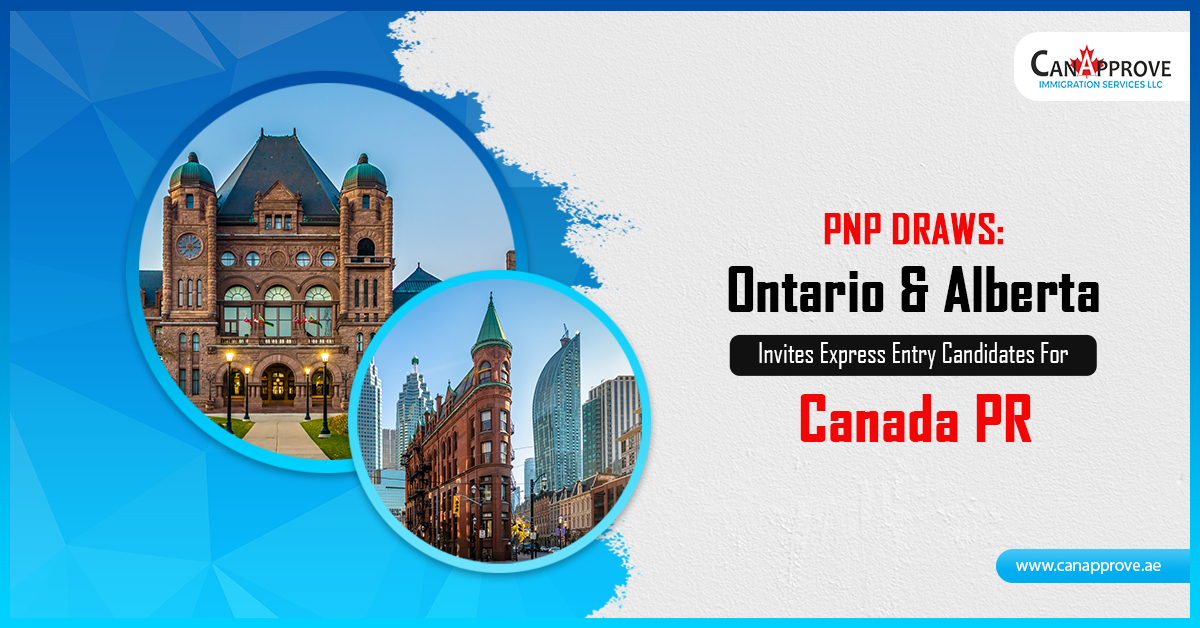 Ontario & Alberta Invites Express Entry Candidates For Canada PR