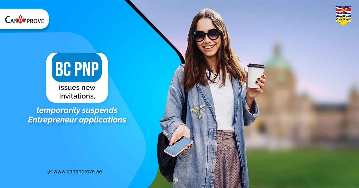 BC PNP issues new invitations, temporarily suspends entrepreneur applications.