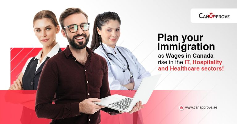Plan your Immigration as wages in canada rise